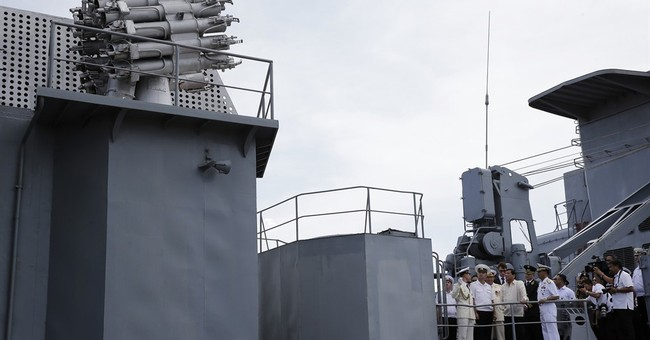 Philippines' Duterte tours Russian warship amid warming ties