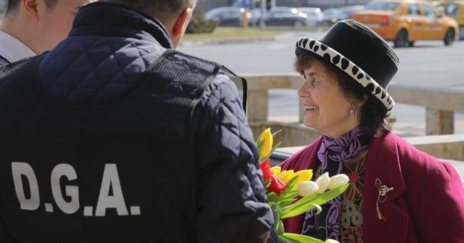 AP Photos: East Europeans mark spring with good-luck charms