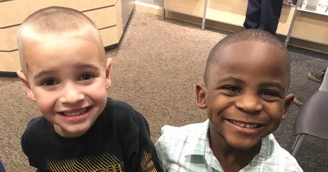 Story of 2 boys, 1 white and 1 black, teaches racial harmony