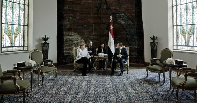 Merkel visits Egypt for talks on stemming migration