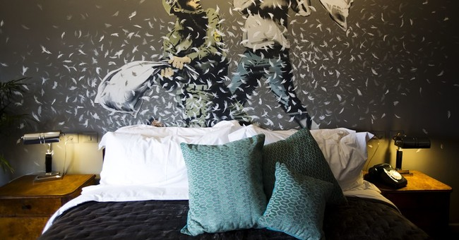 Banksy's art in West Bank hotel with world's 'worst view'