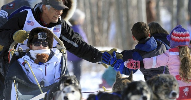 The Latest: Iditarod draws fans from around the world
