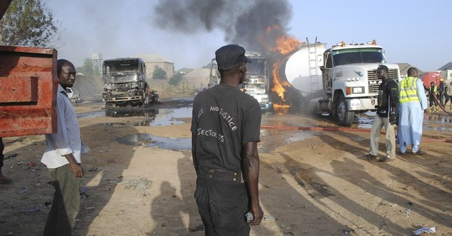 Suicide bombers destroy 3 fuel tankers in northeast Nigeria