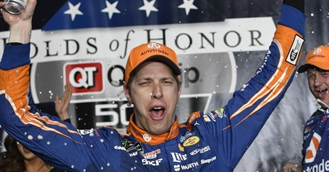 Evening out: Keselowski wins Atlanta after Harvick miscue