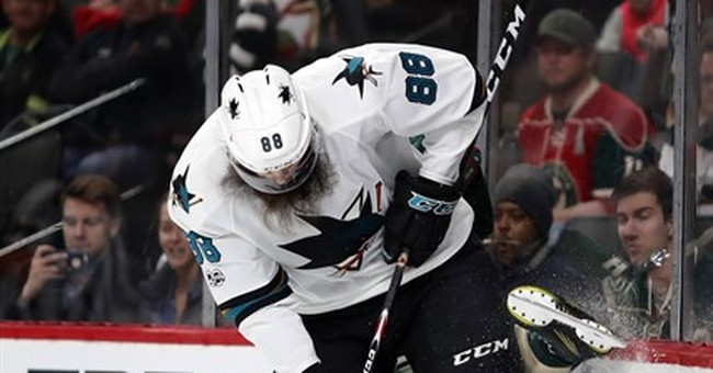 Parise, Staal lead Wild to 3-1 win over Sharks