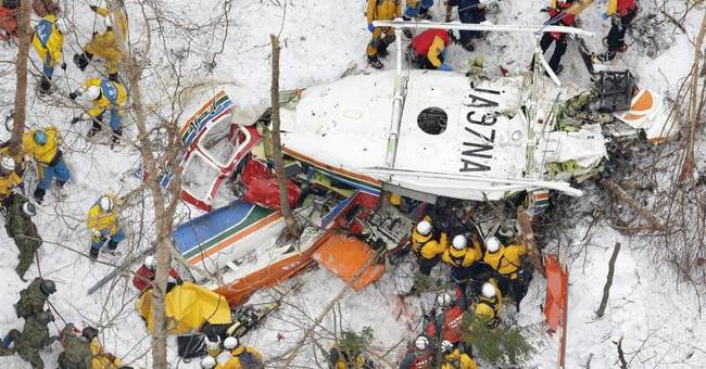 Helicopter crash in central Japan mountains kills 9