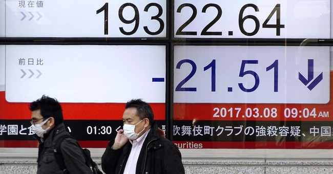 Global stocks waver after Wall Street losses