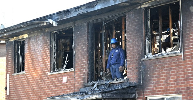 High winds cause damage, fan fire that kills 5 people