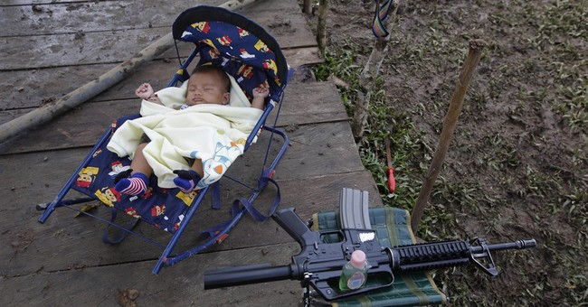 Colombian rebels exchange rifles for rattles amid baby boom