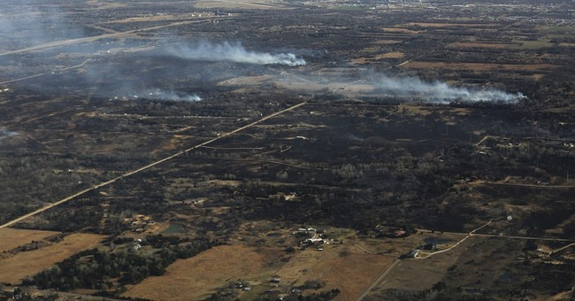 The Latest: 2-county Kansas wildfire sets new state record