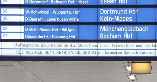 7 injured in ax attack at German station; 1 arrest