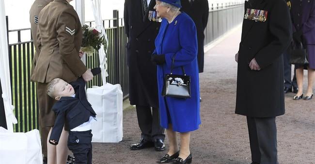 Royal tantrum! Boy throws fit meeting Queen Elizabeth II