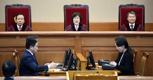 Korean judge hair rollers seen as sign of hardworking women