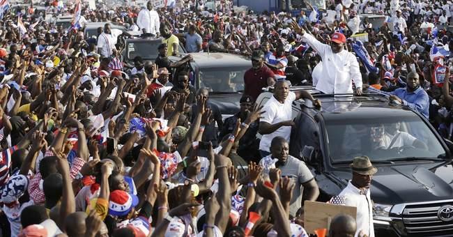 Ghana's new president, vice president peacefully sworn in