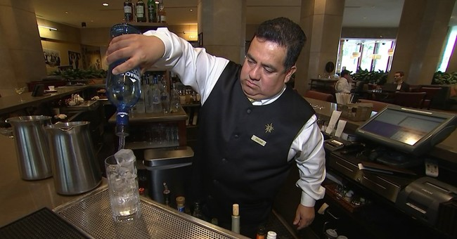 Behind the bar, 'the only Oscar at the Golden Globes'