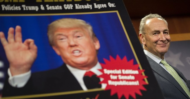 Trump and Schumer: Potential allies now adversaries