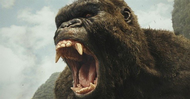 'Kong' outmuscles 'Logan' to become king of the box office