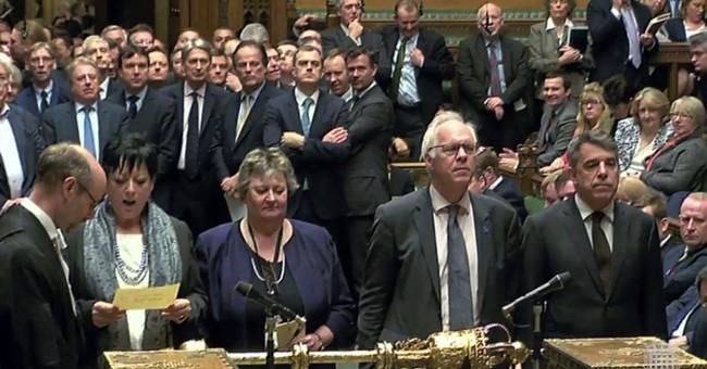 The Latest: UK Parliament passes Brexit authorization bill