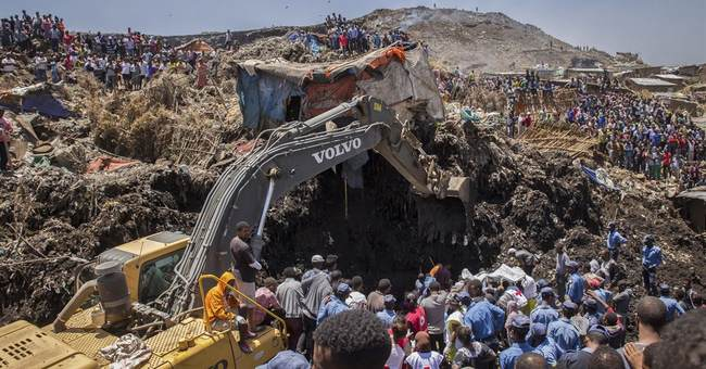Death toll in Ethiopia landfill collapse up sharply to 113