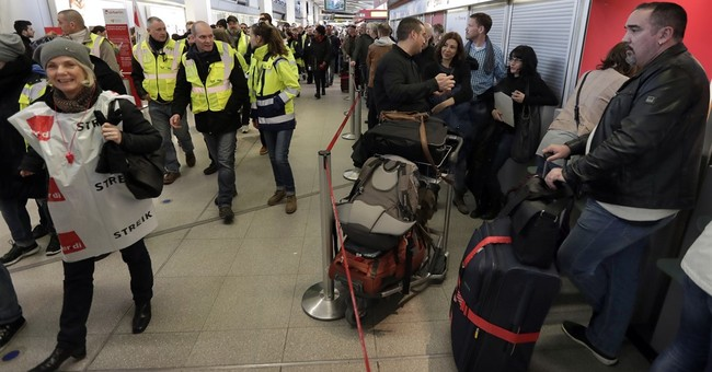 Berlin ground staff strike, hundreds of flights canceled