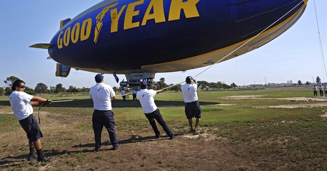 The Latest: Last blimp goes flat but Goodyear will still fly