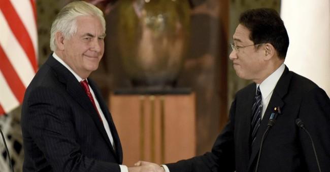 Tillerson gets a look at NKorea at the DMZ between Koreas