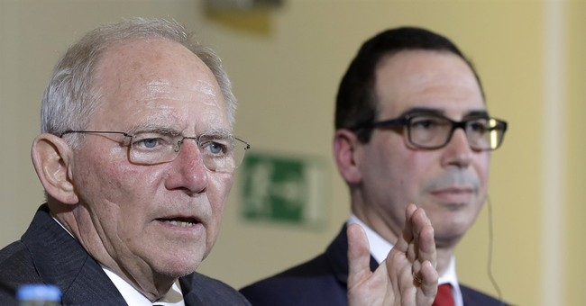 US, German finance chiefs seek to defuse trade tensions