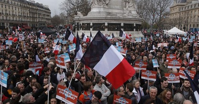 Far-left presidential candidate Melenchon holds Paris rally