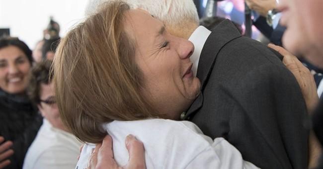 Italy president hugs those like him who lost family to Mafia