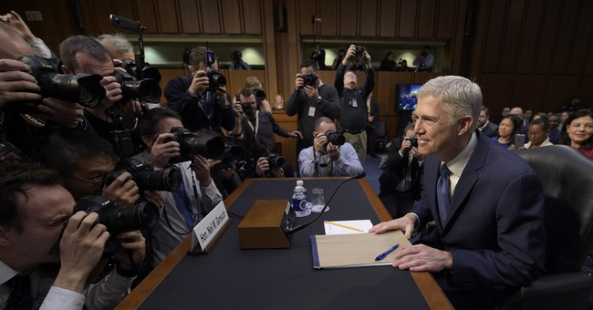 The Latest: Gorsuch confirmation vote expected by April 10