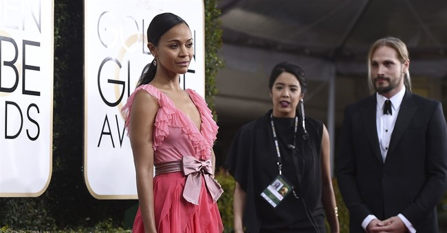 A parade of pinks on the Golden Globes red carpet
