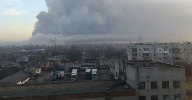 20,000 evacuated after fire at military arsenal in Ukraine