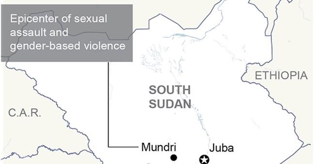 Rape reaches 'epic proportions' in South Sudan's civil war