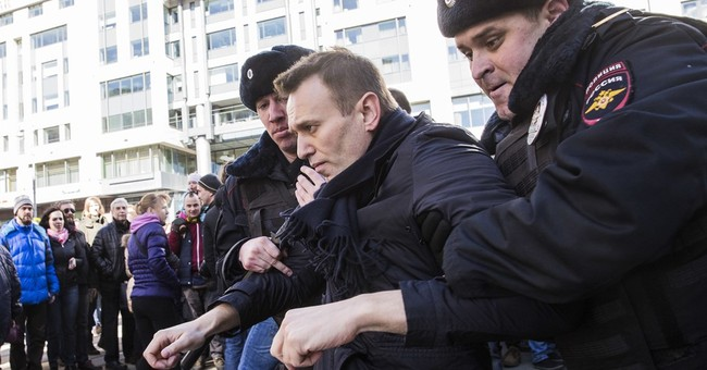 The Latest: Russian opposition leader Navalny gets jail term