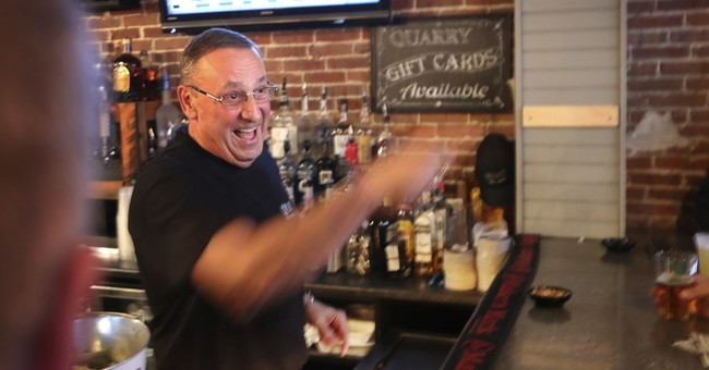 Outspoken governor LePage serves up beer for a good cause