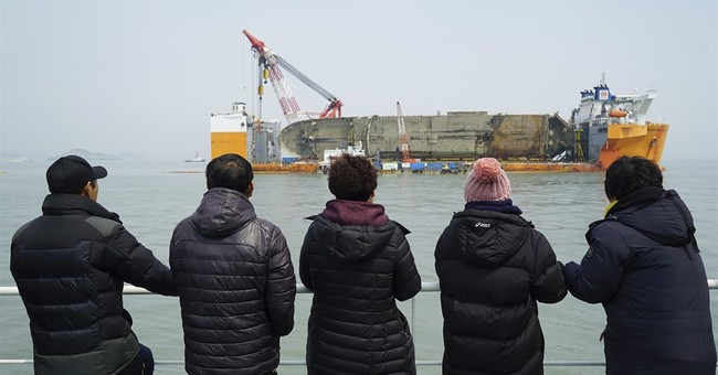 South Korea officials: Bones found near ferry not of victims