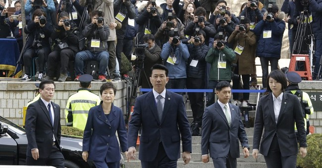 S Korea's Park questioned at court hearing on arrest request
