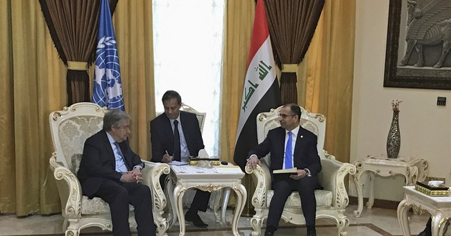 UN chief in Iraq backs fight against Islamic State group