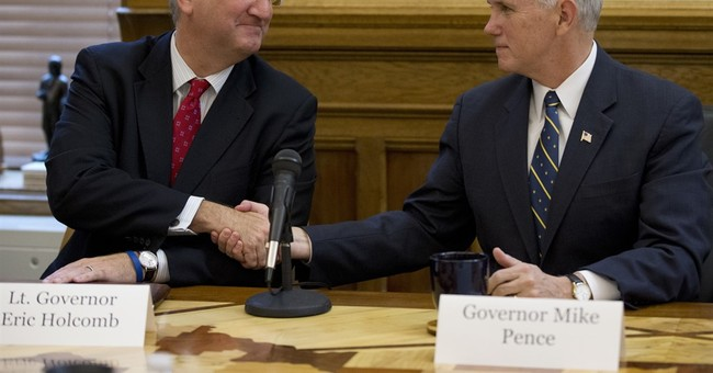 Holcomb inaugurated as Indiana's governor, succeeding Pence