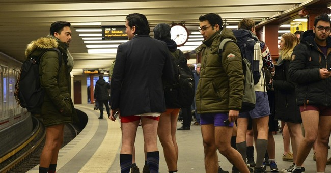 Annual No Pants Subway Ride hits cities around the world