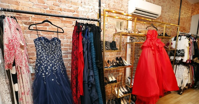 AP FACT CHECK: Red gowns a-plenty in Washington dress shops