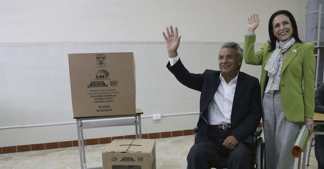 Leftist Moreno heading to disputed win in Ecuador election