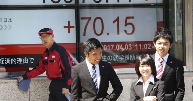 Asian stocks gain on Japan data, awaiting US-China meeting