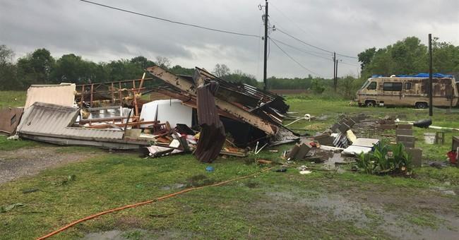 Tornado kills 2 in Louisiana as state put on 'high alert'