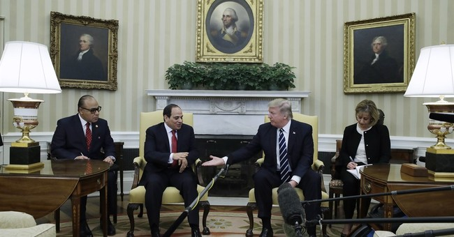 Trump says US will forge a 'great bond' with Egypt