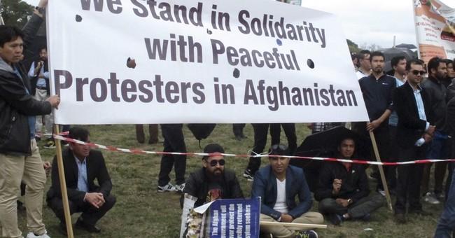 Demonstrators protest Afghan president's Australia visit