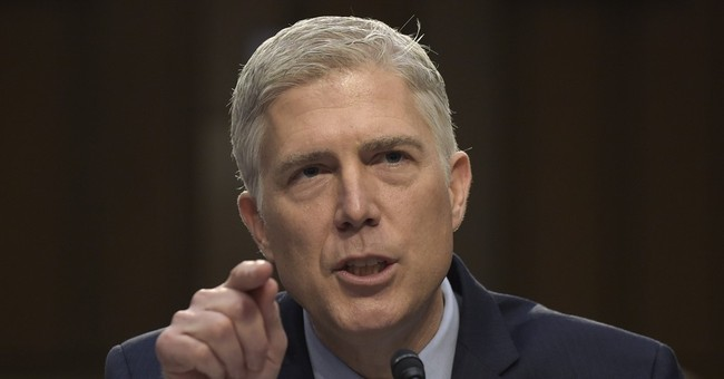 The Latest: Democrat gives marathon speech against Gorsuch