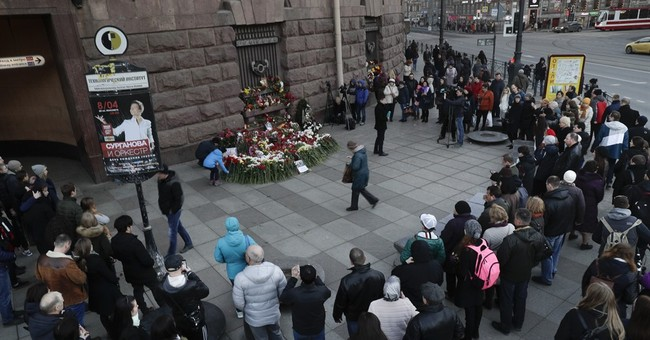 The Latest: Putin says bomb shows terror threat still real