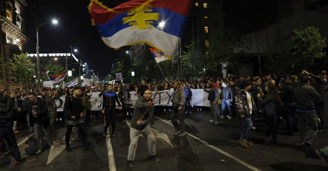 Serbians protest outcome of presidential race for third day