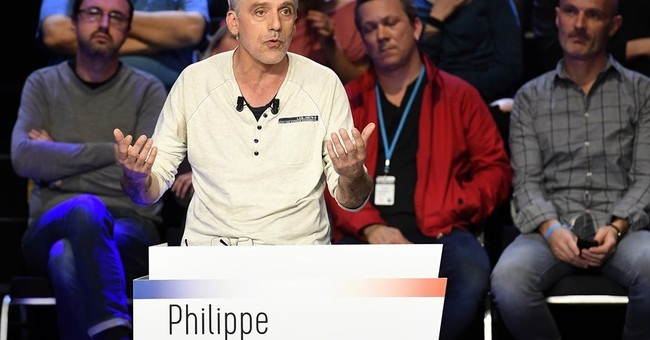 Factory worker creates sparks at French election debate